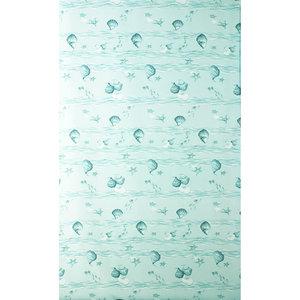 Zasłona łazienkowa MUSSLA zielona