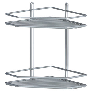 Półka łazienkowa narożna II srebrna
