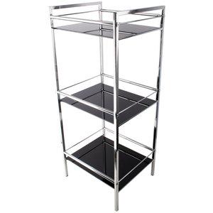 Stojak łazienkowy szklany 3 półki czarny