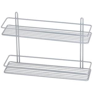 Półka łazienkowa prosta II srebrna